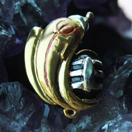 Gold Plated Ganesh Locket Pendant - Design I
