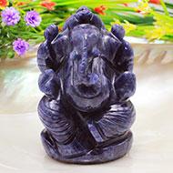 Blue Jade Ganesha - 147 gms