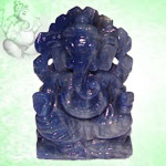 Ganesha in Blue Sapphire - 75 gms