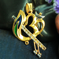Gold Plated Krishna Locket Pendant - I