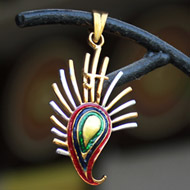 Gold Plated Ganesh Locket Pendant - Design II