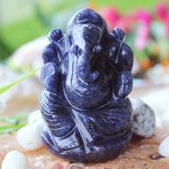 Blue Aventurine Quartz Ganesha - 137 gms