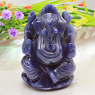 Blue Jade Ganesha - 170 gms