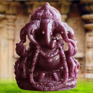 Punchmukhi Ganesha in Ruby - 1675 carats