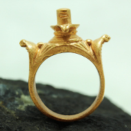 Shivling Ring in brass