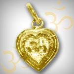 Om Locket in Pure Gold - Design VI