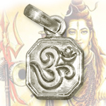 Auspicious OM Locket - in Pure silver