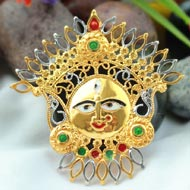 Gold Plated Durga Locket