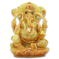 Exotic Ganesh Idol in Yellow Jade - 781 gms