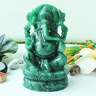 Ganesha Columbian Green Jade - 990 gms