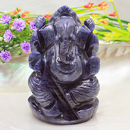 Blue Jade Ganesha - 188 gms