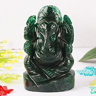 Green Jade Ganesha - 219 gms
