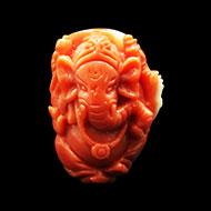 Coral Ganesha - 33 carats