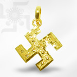 Swastik Locket in Pure Gold