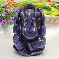 Blue Jade Ganesha - 225 gms