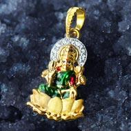 Lakshmi Locket - in Pure Gold - Design III