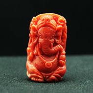 Coral Ganesha - 54.10 carats