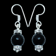 Black Onyx Earrings - I