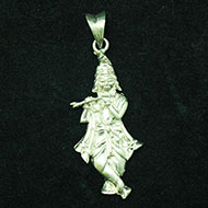 Krishna Locket in SIlver - Design I