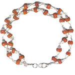 Rudraksha Bracelet - 4 mm Beads With Two Turns - Design II
