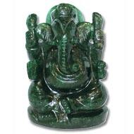 Green  Jade  Ganesha - 527 gms