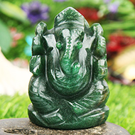 Green Jade Ganesha - 90 gms