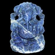 Blue Sodalite Ganesh - 411 gm