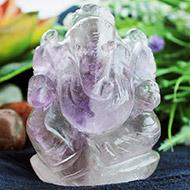 Ganesha in Amethyst - 166 gms