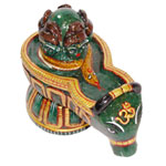 Blessing of Pashupatinath in Green Jade - 575 gmss