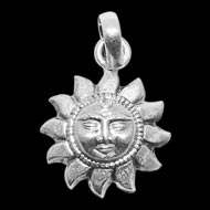 Surya Locket - in Pure Silver