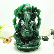 Ganesha Columbian Green Jade - 1337 gms