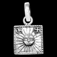 Surya Locket - in Pure Silver - Design VII