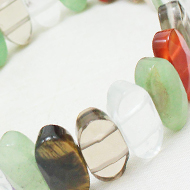 Gemstone Faceted Bracelet