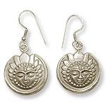 Surya Earrings in Silver - Design I