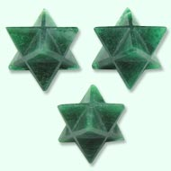 Star Pyramid in Green Jade - Set of 3