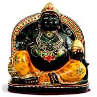 Kuber Maharaj Murti in green Jade