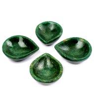 Diyas in Green Jade - Set of 4