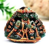 Panchamukhi Hanuman in Emerald