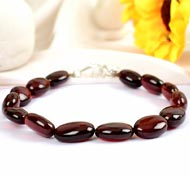 Gomedh Bracelet Oval Beads - 120 carat