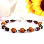 Rudraksha and Gomed Bracelet - 35 carats