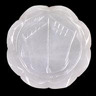 Laxmi Charan in White Agate - 49 gms - II