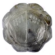Laxmi Charan in Labradorite - 47 gms