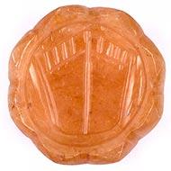 Lakshmi Charan in Orange Jade - 48 gms - I