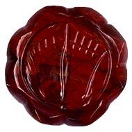 Lakshmi Charan in Red Jasper - 39 gms