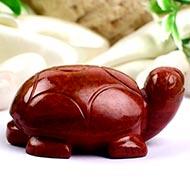 Red Jasper Turtle (Kurma) - 68 gms