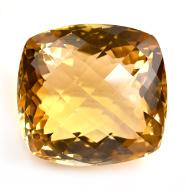 Yellow Citrine - 32.45 carats - Cushion