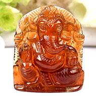 Gomed Ganesh - 122.55 carats
