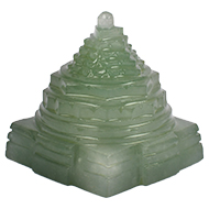 Light Green Jade Shree Yantra - 132 gms