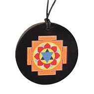 Krishna Yantra locket on Rosewood