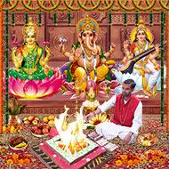 Laxmi Ganesha Saraswati Puja For Higher Educa..